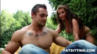 Chubby Marta loves smothering face ofher bf  domination handjob bbw facesitting femdom chubby fat
