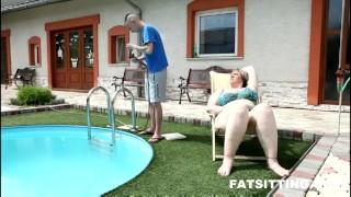 Amazing BBW mistress Diana facesitting  domination handjob bbw facesitting femdom chubby fat