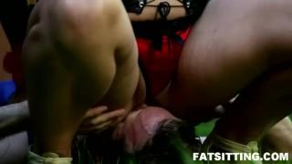 Czech Domme Lenka is perfect in facesitting sessions  domination handjob bbw facesitting femdom chubby fat