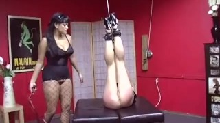 Domination  kinky krystina scene of the cuffs paddle