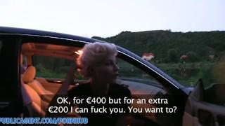 PublicAgent HD Blonde lesbian takes cock for money