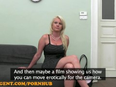 FakeAgent HD Foxy blonde in casting interview