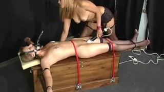 Interracial Bound - Scene 3 nipple clamps collar femdom pornhub.com spanking rope asian ridding vibrator dildo muzzle stockings girlongirl leash