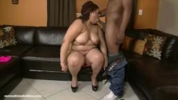 Big Ass Latina BBW Slobs and Swallows Big Cock