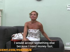 FakeAgent HD Hot MILF gets a mouthful of spunk