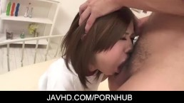 Pretty asian babe Rin Saotome getting her pussy licked and rubbed