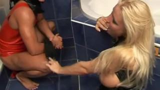 Wet Latex Dreams 19 - scene 1  ass spanking boots foot femdom blonde bathroom strip mask feet heels latex pornhub.com big boobs pussy eating sexu