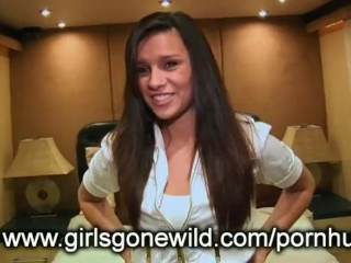 Preview 2 of GIRLS GONE WILD - College Girl Strips Naked