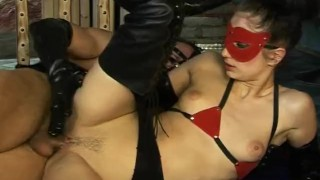 Wet Latex Dreams 11 - scene 1  tied pussy-eating cage boots trimmed booty femdom blowjob skinny butt mask heels latex deepthroat pornhub.com chain