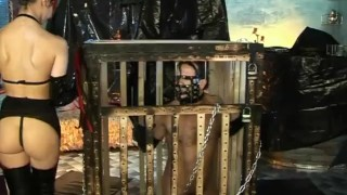 Wet Latex Dreams 11 - scene 1  tied cage boots trimmed booty femdom blowjob skinny butt mask heels latex deepthroat pornhub.com pussy eating chain