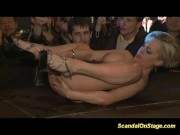 Scandal on stage big tits stripper gets fisted hard