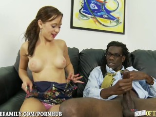 Amateur Mom Sex Tattooed Teen Loves Big Black Cock in her Cunt