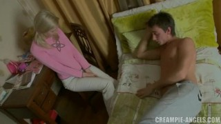 Preview 2 of She has awakened him just to get her pussy fucked