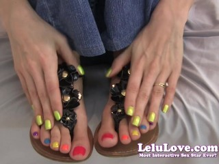 Lelu Love-Jerkoff Encouragement In Gladiator Sandals
