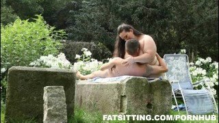Jitka's huge ass demands slave worship  outdoor big tits big ass bbw facesitting femdom fat
