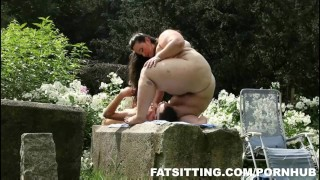 Jitka's huge ass demands slave worship  big ass big tits outdoor bbw facesitting femdom fat