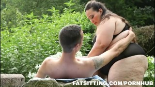 Jitka's huge ass demands slave worship  big ass big tits outdoor bbw facesitting femdom fat