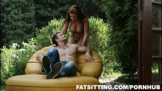 Chubby Marta loves smothering face ofher bf femdom bbw chubby fat facesitting