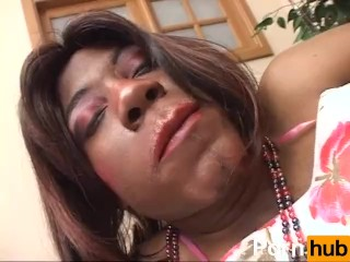 FUCKED BY A BLACK TRANSVESTITE 2 - Scene 4