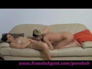 FemaleAgent. Licking for work