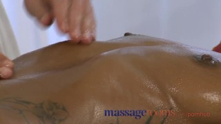 Preview 2 of Massage Rooms Black girl orgasms after erotic session