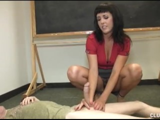 Smotret Besplatno Bdsm A hot teacher gives her student a great handjob in the classroom