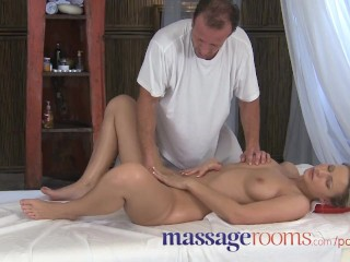 Massage rooms powerful gspot orgasm for her little pussy