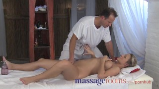 Massage Rooms Powerful g-spot orgasm for her little pussy Dick pussy
