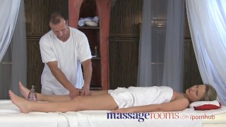 Massage Rooms Powerful g-spot orgasm for her little pussy porno