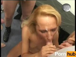 Her Big Tits Are So Beautiful Cum On Mah Face, Blonde Blowjob Cumshot Gangbang