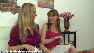 Julia Ann and Marie McCray MILF and Teen Threesome