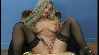 Sexy Blonde Plays and Sucks porno