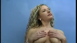 Sexy Blonde Plays and Sucks