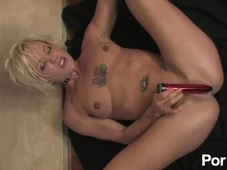 The Adult Video Experience Presents Athletic blonde is masturbating