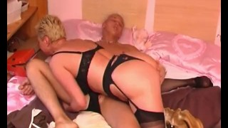 Blonde Mature Babe Takes a Load In The Face Pussy blonde