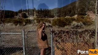 Huge Tit Babe Teases You Outside