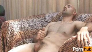 Solo bald guy masturbates on couch Tgirls cams