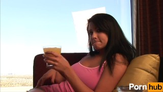 Cute Chick Teases With Her Drink