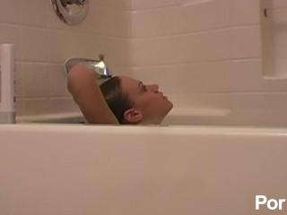 Ka sex ko si nanay fun in the tub, pornhub.com teen solo bath wet small boobs