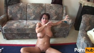 Hot milf finishes her masturbation session with a BJ Fetish dildo