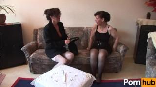Two Euro women pleasure eachother