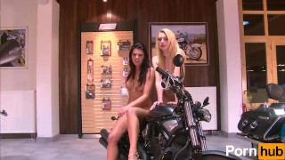 2 Small tittied teens at a bike-show - Julia Reaves Interview safe