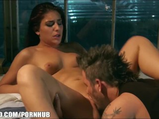 Big-booty redhead Mischa Brooks gets slammed rough in her ass main image