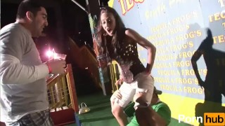 Girls scene wild party  spanking booty
