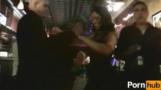 scene wild girls party brunette exhibitionism