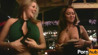 Party scene girls  wild tease boobs