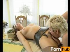 Lesbians making love