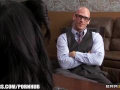 Romi Rain is desperate for a raise & fucks her boss to earn it