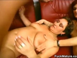Hot And Horny Matures In A Threesome