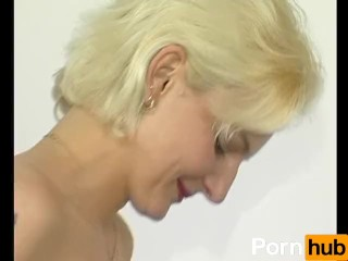 blonde MILF gets interviewed and fucked